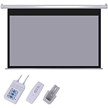 Yescom 100inches Diagonal 16:9 Grey Material Foldable Electric Motorized Projector Screen +Remote HD