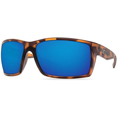 (Costa Del Mar Reefton Sunglasses Matte Retro Tortoise/Blue Mirror 580Plastic)