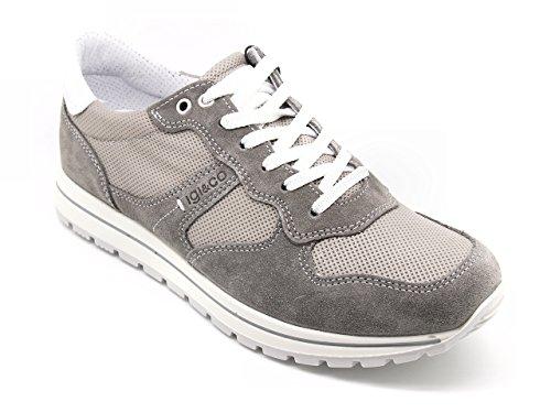 Igi&Co - Zapatos de cordones de Piel para hombre gris gris