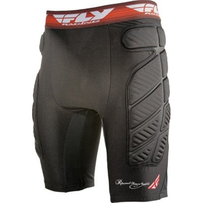 Fly Racing Compression Short Adult Undergarment MX/Off-Road/Dirt Bike Motorcycle Body Armor - Black / Medium
