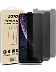 "JOTO Privacy Screen Protector for iPhone 11 / iPhone XR, Anti-Spy Tempered Glass Film Screen Guard for 6.1"" Apple iPhone 11 2019, iPhone XR 2018(2-Pack)"