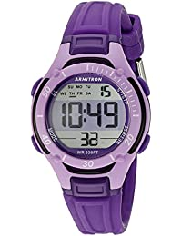 Armitron Womens 45/7062PUR Digital Chronograph Purple Watch