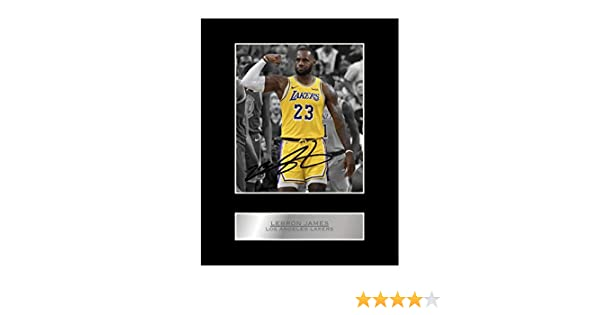 Foto enmarcada firmada por Lebron James Los Angeles Lakers # 1 NBA con autógrafo para regalo: Amazon.es: Hogar