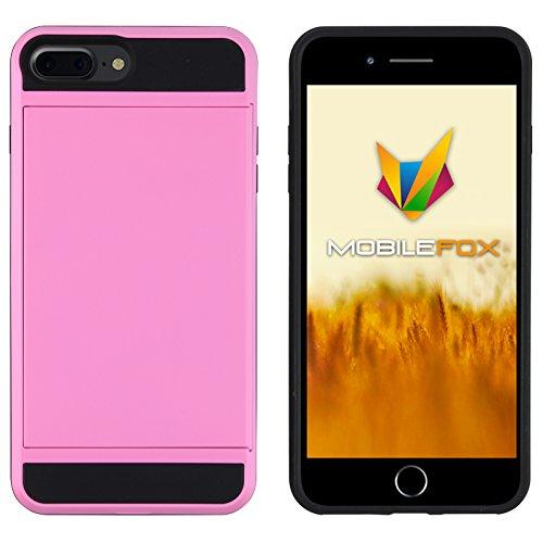Mobilefox Kathrin Schutzhülle Silikon Case Kartenfach Apple iPhone 7 Plus Pink