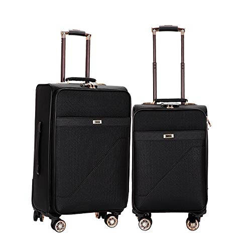 Spinner Luggage 20in 24in Expandable Uprights Luggage 2 Piece Nested Sets Carry-on Softside Suitcase Softshell Lightweight 360° Silent Spinner Multidirectional Wheels For Travel Airplane Flight And Ch