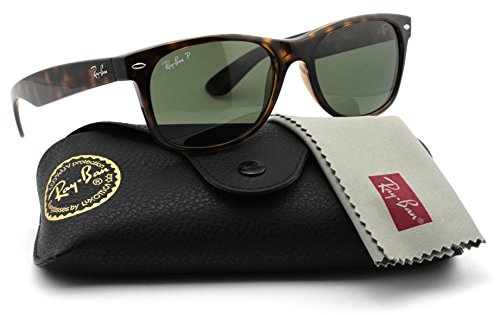 Ray-Ban RB2132 902/58 Wayfarer Tortoise Frame / Green Polarized Lens - Polarized New 58mm Ray Ban Wayfarer