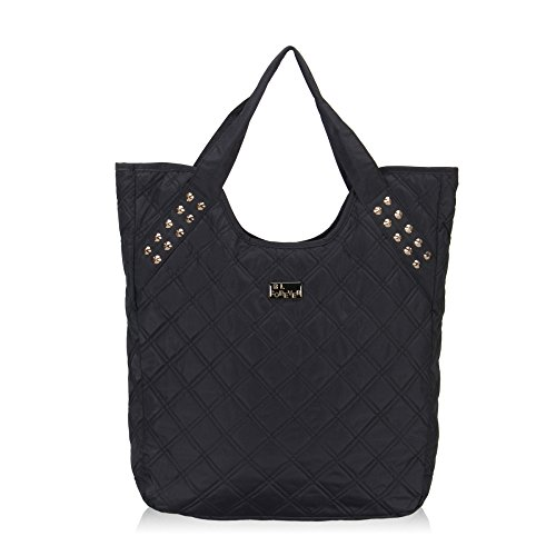 Hynes Eagle Women Quilted Tote Bags (Black)