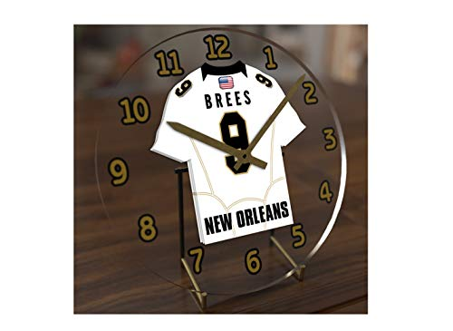 FanPlastic Drew Brees 9 MVP New Orleans Saints Desktop Clock - National Football League Legends Edition - Saints New Clock Orleans Desk