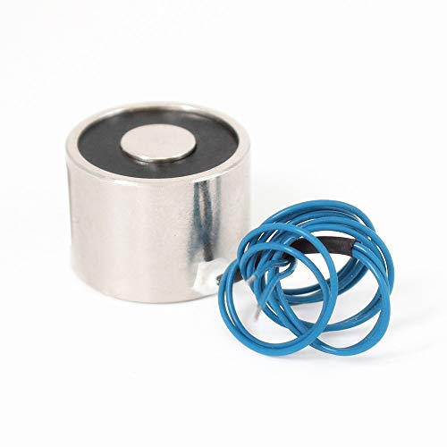 HATCHMATIC 3425mm Suction 20KG 200N DC 5V/12V/24V Mini Solenoid Electromagnet Electric Lifting Electro Magnet Strong Holder Cup DIY 12 v: 24V