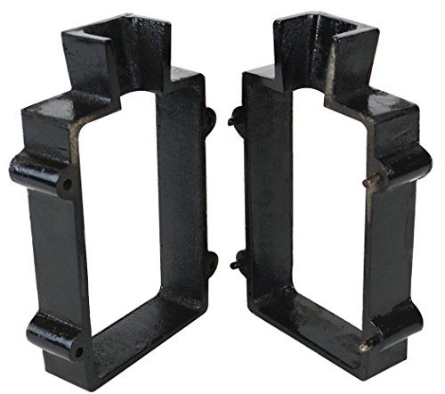 Cast Iron 2-Piece Flask Mold Frame for Sand Casting Jewelry Metal Casting Making Tool ()