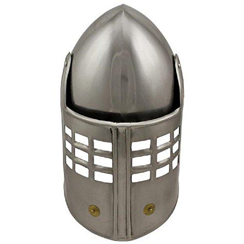 Barrel Hoop Earring Set - Medieval Knight's Crusader Barrel Helmet