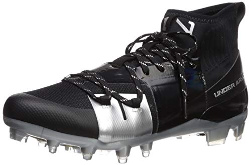 Under Armour Men's C1N MC Football Shoe, Black (001)/Metallic Silver, 12 M US (Under Armour C1n Mc Mens Football Cleat)