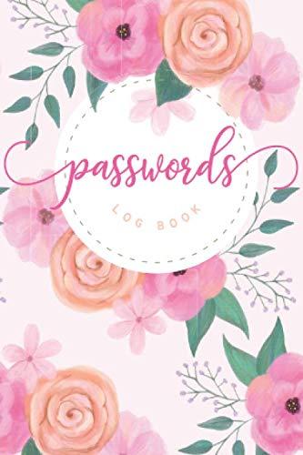 Passwords Log Book: Floral Design  |  Pocket 4x6