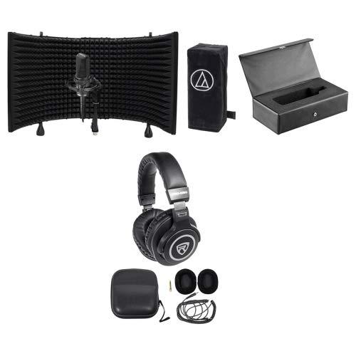 Audio Technica AT4033A Condenser Microphone+mount+Cover+Case+Headphones+Shield Cl Studio Condenser Microphone