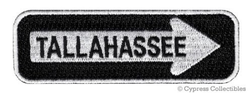 Super Patch TALLAHASSEE ONE-WAY SIGN EMBROIDERED IRON-ON PATCH emblem FLORIDA SOUVENIR ROAD by I.E.Y. online store (1 1 Tallahassee)