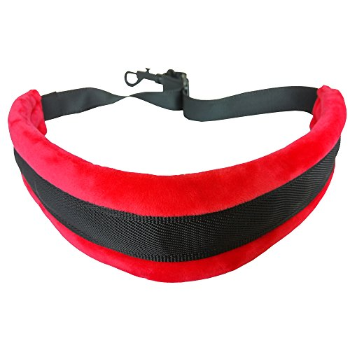 Xinlink Professional Red Colored Padded Alto Tenor Saxophone Neck Strap with Locking Swivel Snap Hook for Sax Player Music Instrument