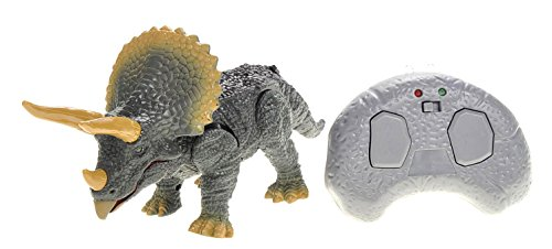 (Team R/C Remote Control Infrared Triceratops, RC Dinosaur with Lights and Sound)
