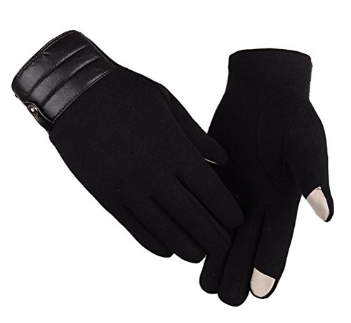 FQhome 1 Pair Skiing Gloves Winter Warm Mittens Touch Screen Cashmere Gloves