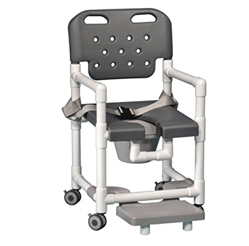 Innovative Products Unlimited ELT817 P FRSB G Elite Shower Commode with Footrest and Seat Belt, 21 lb price