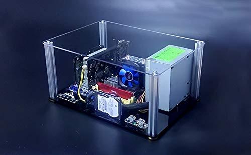 Acrylic Rack Transparent (Open Benchtable Chassis Transparent Acrylic DIY Water-Cooled Chassis Personality Computer Chassis Rack ITX MATX ATX EATX)