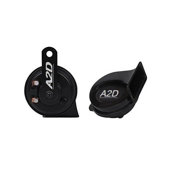 A2D Heavy Sound Super Black Edition Type R Car Horn-Set of 2