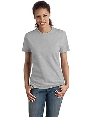 Hanes Women's Nano-T T-shirt - Large, Light Steel