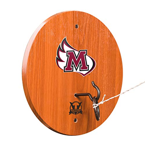 Meredith College Ring - Victory Tailgate Meredith Avenging Angels Hook & Ring Toss - All Wood Target with Rubbed Bronze Hook and Ring - More Colleges Available
