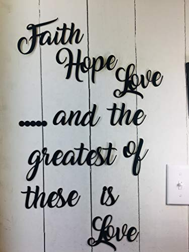 (Faith Hope Love This not a Decal Wall Quotes Sayings for Family Home College Dorm Removable Paintable Reusable Art Wall Décor Great Gift )