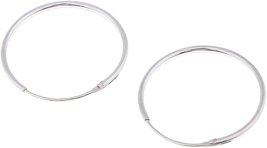 Creolen 30mm 1 Paar Ohrringe aus 925 Sterling Silber