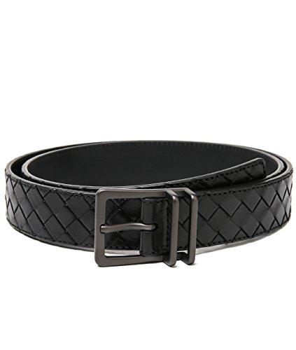 wiberlux-bottega-veneta-mens-real-leather-woven-prong-buckle-belt-100-black