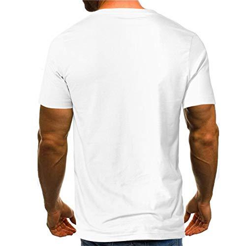 Da Manica Forti Bicolore Maglietta T Casual Sijux Forti Stampata shirt xxxl Taglie Corta Uomo white wXqPxwEfT