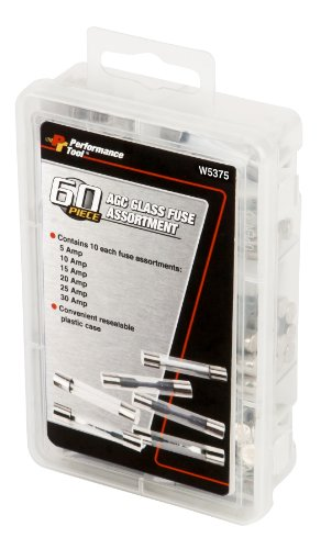 Performance Tool W5375 60pc AGC Glass Fuse ()