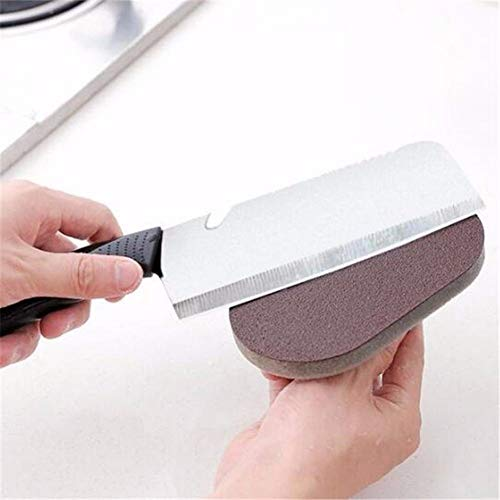 (XQXCL Emery Sponge Brush Cleaning Tool Eraser Scrub Handle Grip Sink Pot Bowl Kitchenware)