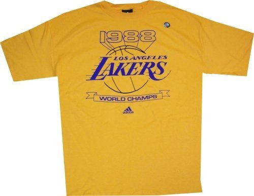 new product a9c38 6f976 LA Lakers Vintage 1988 World Champs Adidas T Shirt