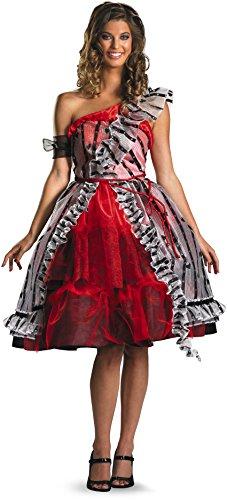 Disguise Women's Alice In Wonderland Movie Red Court Dress Costume, Red/Black, Small (Red Alice In Wonderland Dress)