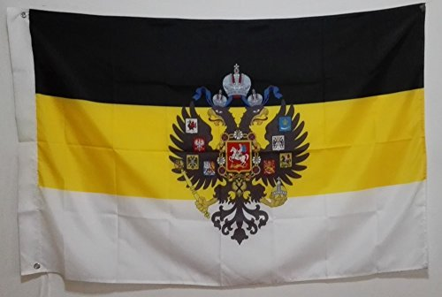 FunnyToday365 Imperial Flag Russian Empire Eagle Heads God Flag Goods 3X5 Ft 150X90Cm Banner Brass Metal Holes Ir1