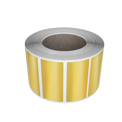 40mm x 19mm Colored Sticker labels rolls 4cmx1.9cm 500 Pack by Royal Green/… - Permanent Adhesive Rectangular Label Yellow