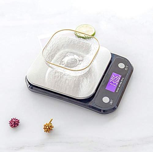 0.1 G Bilancia da cucina digitale ad alta precisione Bilancia da cucina in acciaio inossidabile Ricaricabile USB Precisione Cottura Alimento chiamato 1g-5kg