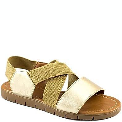 a877982a60 Sandália Rasteira Elástico Numeração Especial Sapato Show 13449 ...