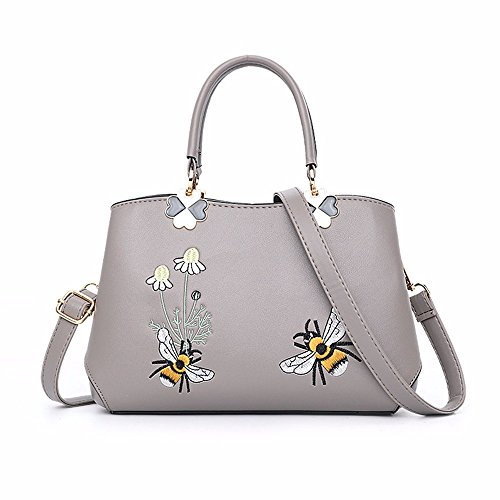 Hombro B Gris Bolso de Las Bag B la de Mujeres Nuevo CCZUIML púrpura Moda de BqIxw7FZ