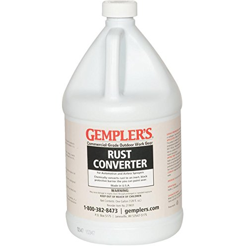 GEMPLER'S Eco-Friendly Spray-ON Rust Converter and Primer 2-in-1 Formula 1 Gallon Size - One-Step Spray-able Solution to Convert Rusted Iron or Steel Surfaces and Prevent Further Rusting