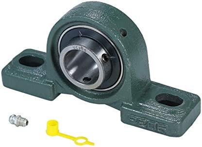耐久性のある鋳鉄製ピローブロックマウントベアリングの穴径ボールベアリングUCP205 DIY木工旋盤