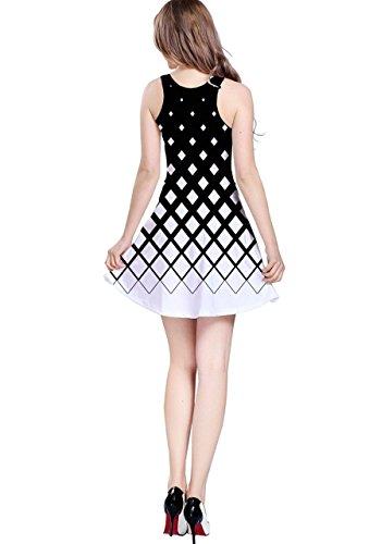 CowCow - Vestido - para mujer blanco y negro