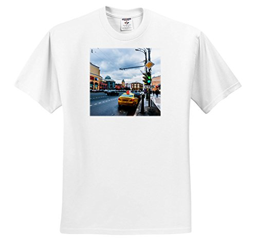 Price comparison product image Alexis Photo-Art - Moscow City - Moscow Garden Ring Avenue by The Kursky Railroad Station In Winter - T-Shirts - Youth T-Shirt Large(14-16) (TS_272050_14)