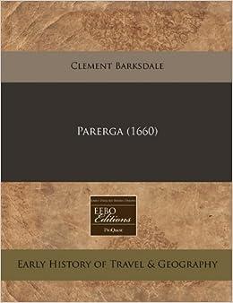 Book Parerga (1660)