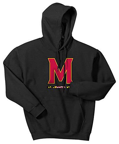 Maryland Terps Ncaa Hoody - Elite Fan Shop NCAA Men's Maryland Terrapins Hoodie Sweatshirt Dark Heather Icon Maryland Terrapins Dark Heather XX Large