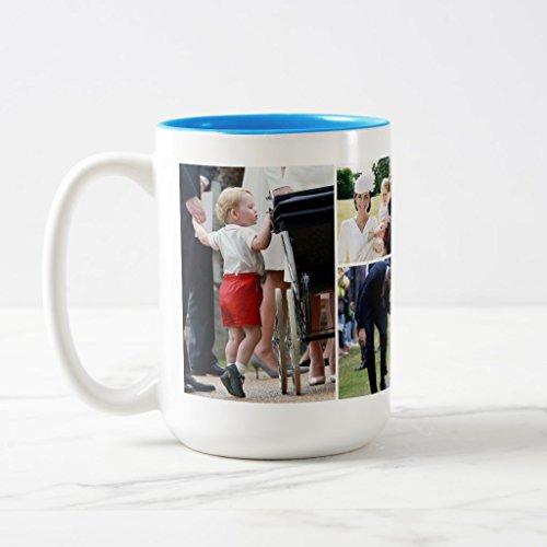Zazzle Prince George - Princess Charlotte - William Kate Coffee Mug, Light Blue Two-Tone Mug 15 oz
