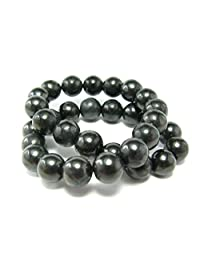 Shungite Bracelet From Russia - 6mm Round Beads