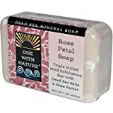 One With Nature Rose Petal Dead Sea Mineral Soap, 7 Ounce Bars (Pack of 6) For Sale
