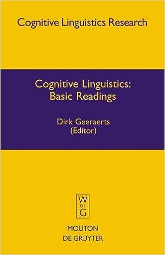 cognitive linguistics pdf
